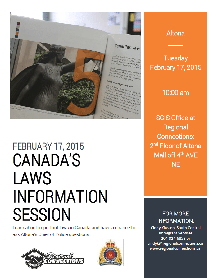 Altona Law Info Session - Feb 2015
