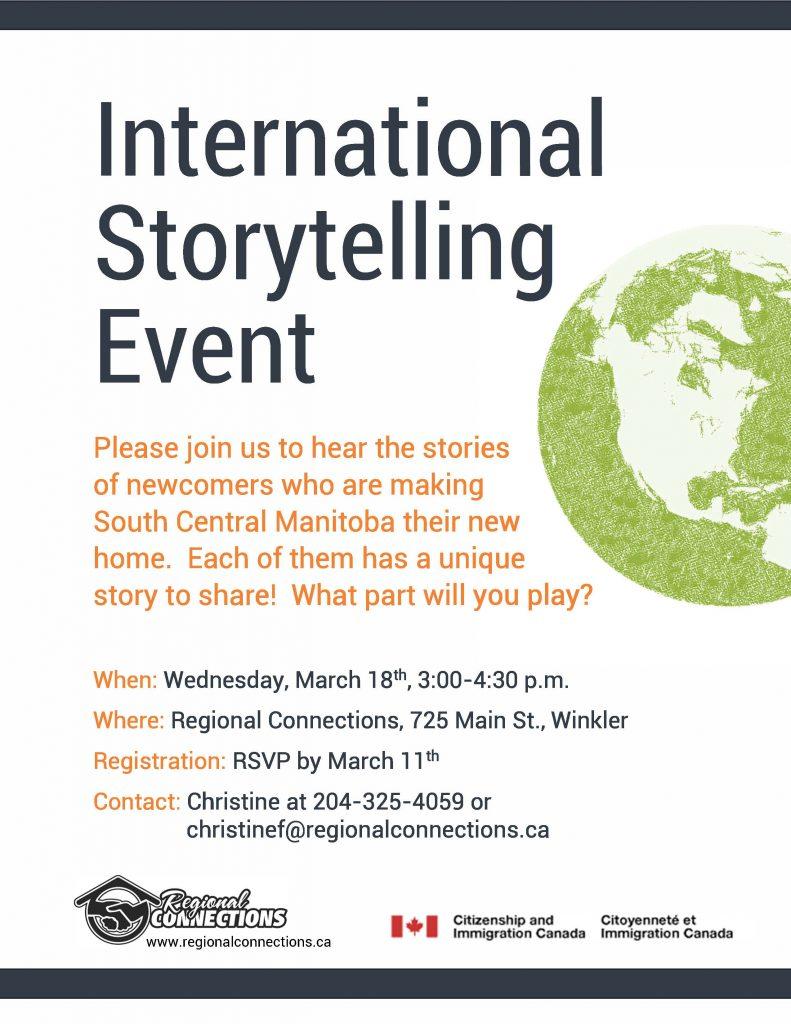 International Storytelling Event - March 2015