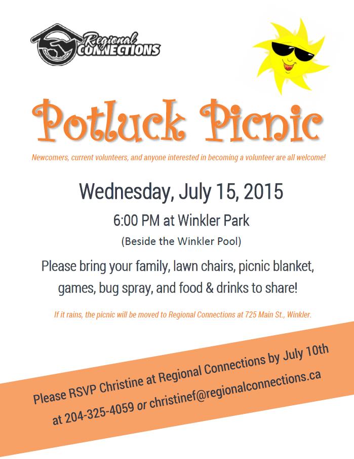 Potluck Picnic July 2015