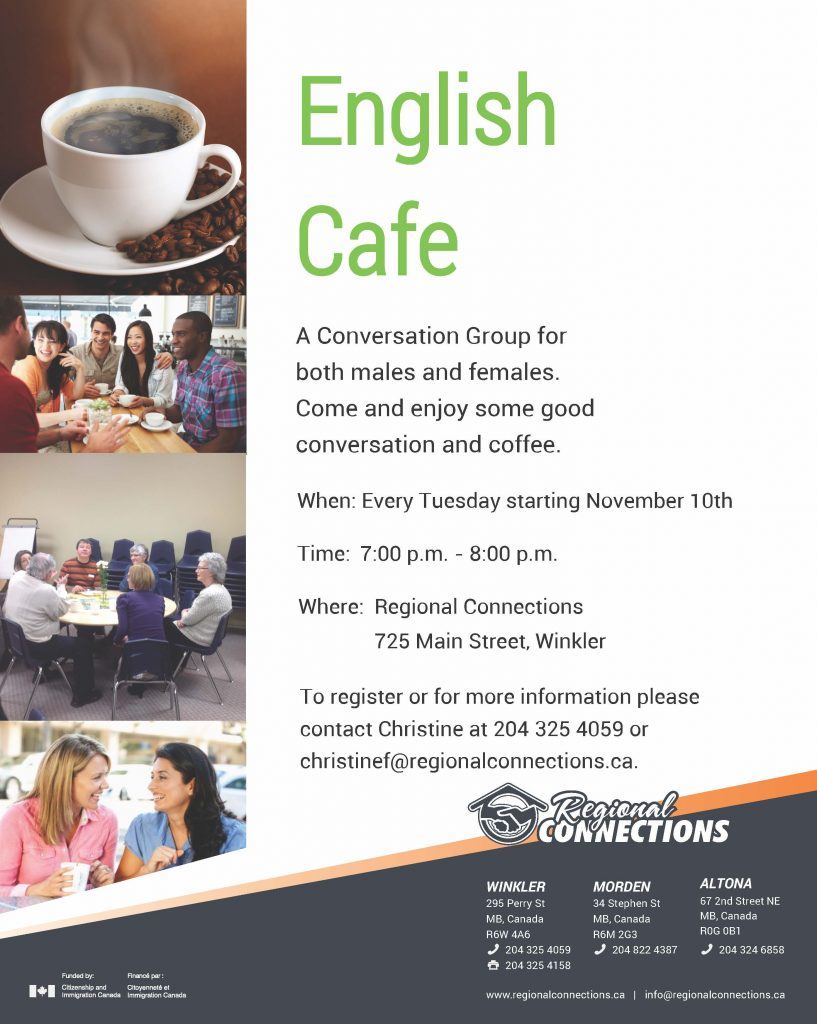 English Cafe Poster