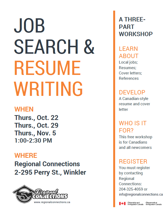Job Search Resume Writing Workshop Regional Connections
