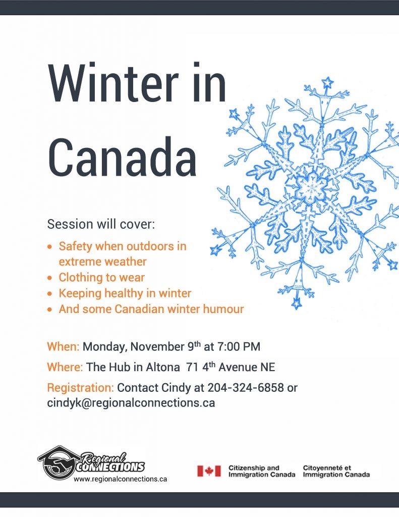 Winter in Canada Info Session  -Altona