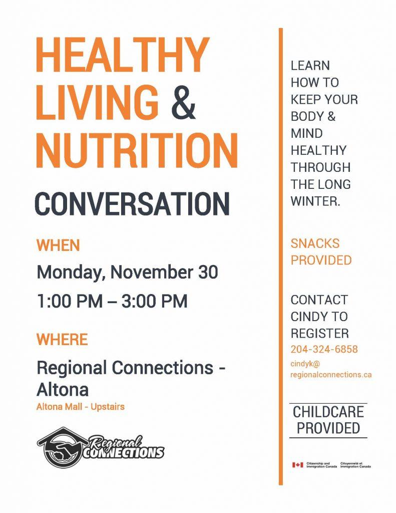 Healthy Living and Nutrition Conversation - Altona
