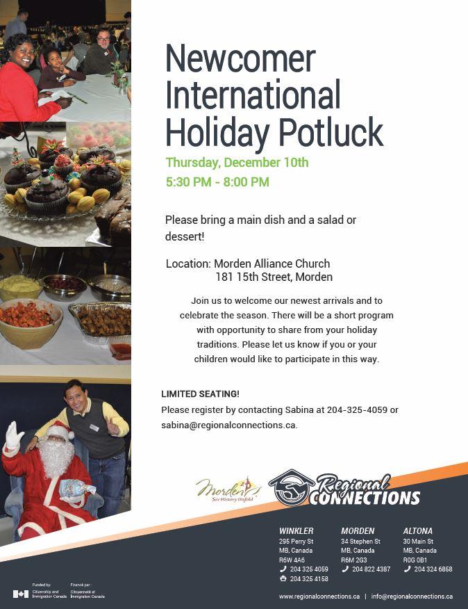 Newcomer International Holiday Potluck 2015 (2)
