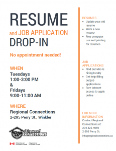 Resume Drop In