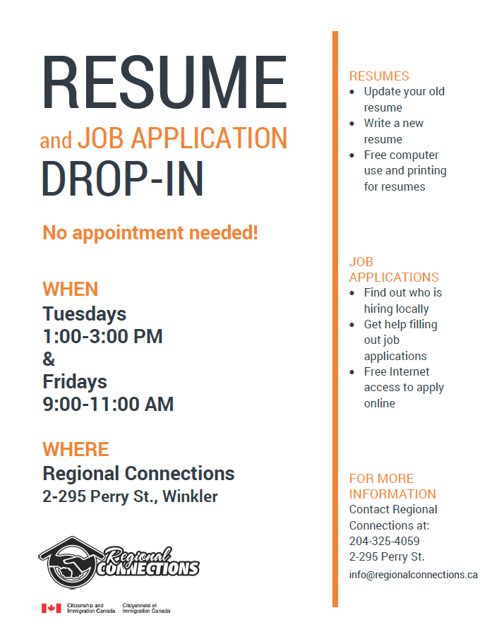 Resume Drop In