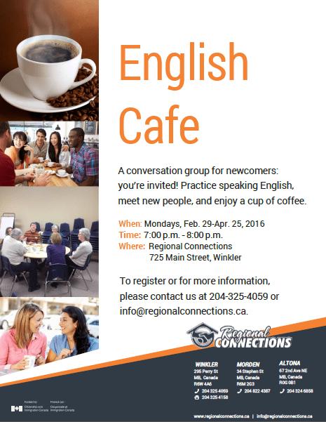 English Cafe - Winkler - Spring 2016