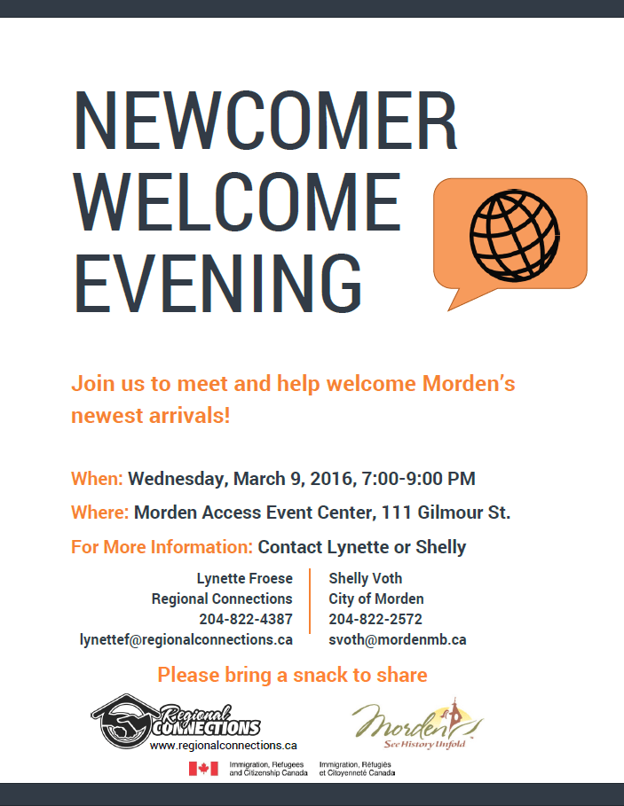 Morden Newcomer Welcome Evening Feb 2016