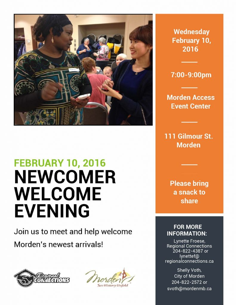Newcomer Welcome Evening Feb 2016