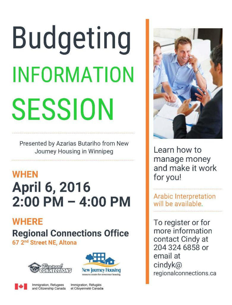 Budgeting Information Session - Apr. 2016