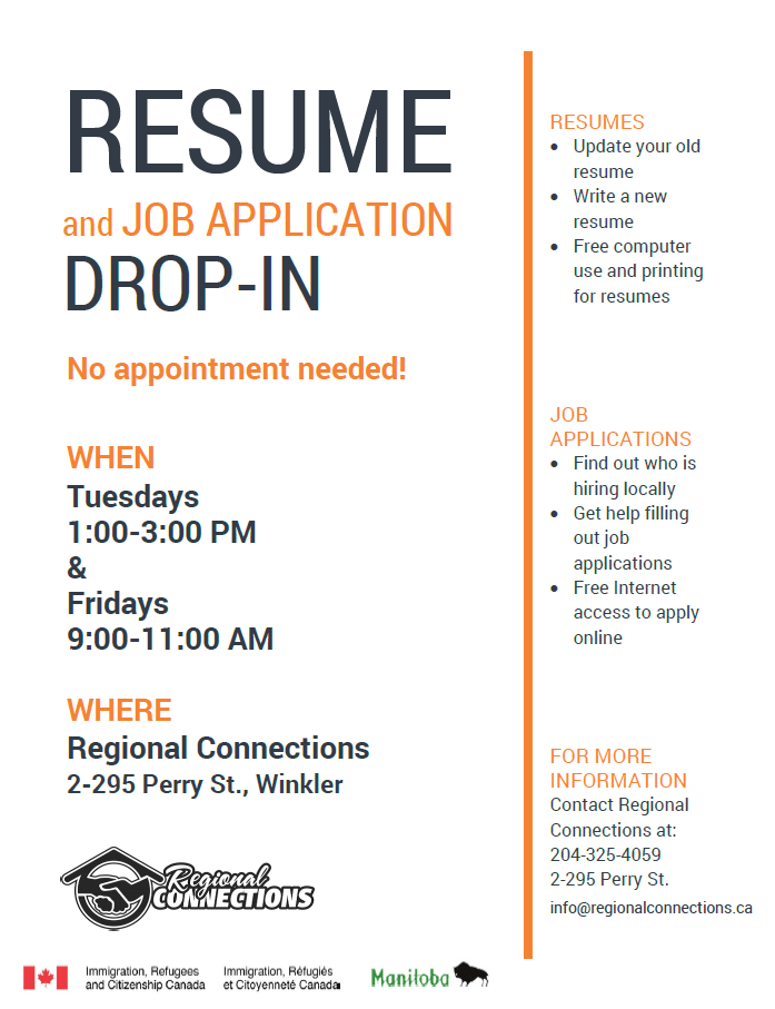 drop in sessions poster both logos - How To Write A Resume For Job Application