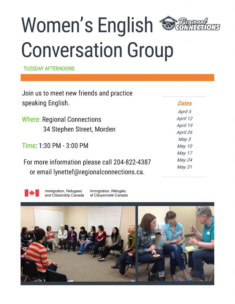 Women's Conversation Group - Morden