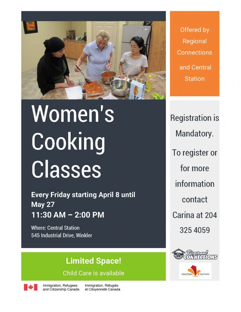 Women's Cooking Classes