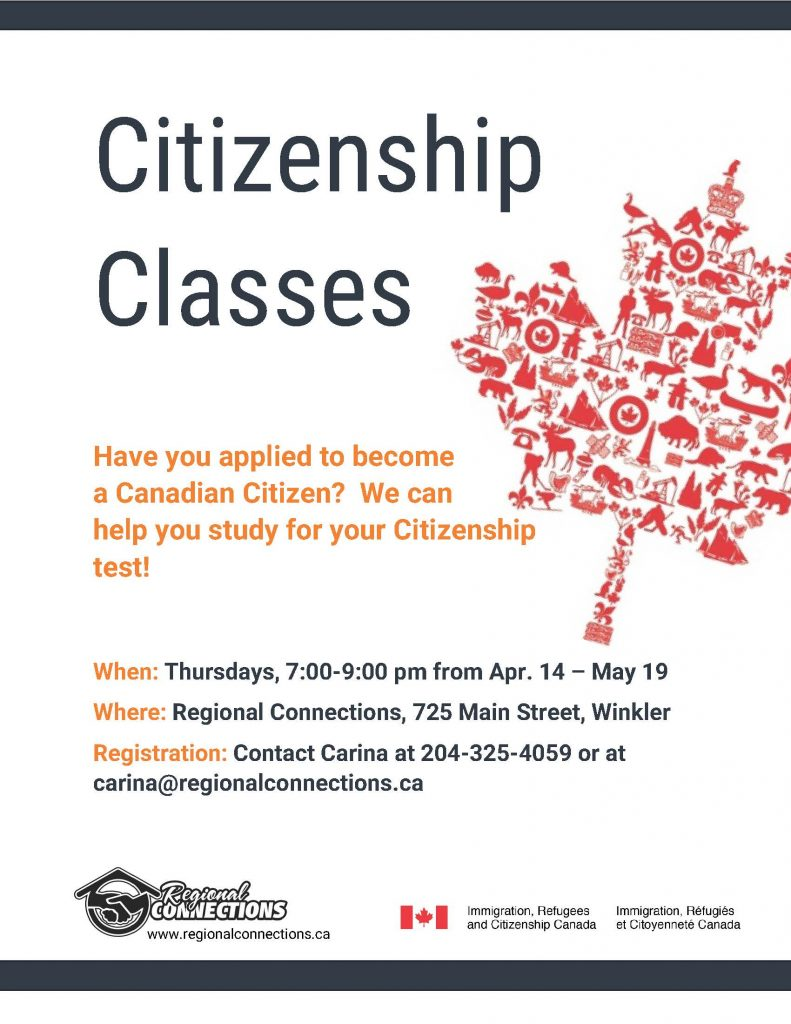 Citizenship Classes Winter 2016
