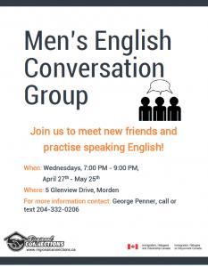 Men's English Conversation Group Morden 2016