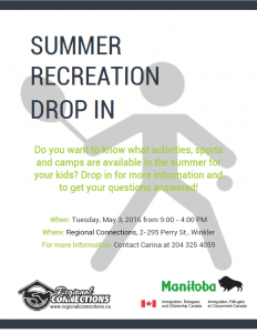 Summer Recreation Drop In Winkler 2016