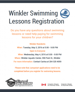 Swimming Lessons Registration - Winkler - April 2016 png