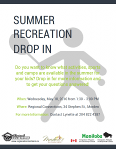 Summer Recreation Drop In Morden 2016