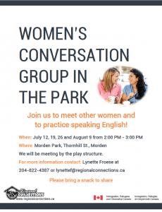 Women's English Conversation Group Morden 2016
