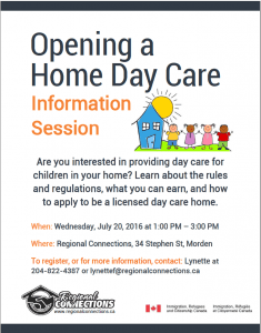 Opening a Home Day Care Morden 2016
