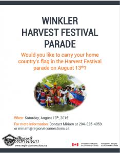 Winkler Harvest Festival Parade 2016