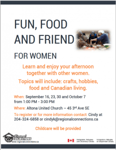 Fun, Food and Friend for Women 2016