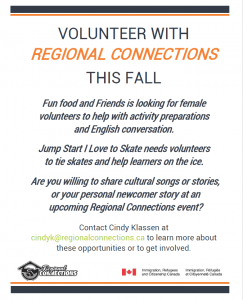 Volunteer with Regional Connections Altona 2016