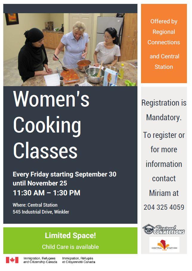 Women's Cooking Classes - Winkler