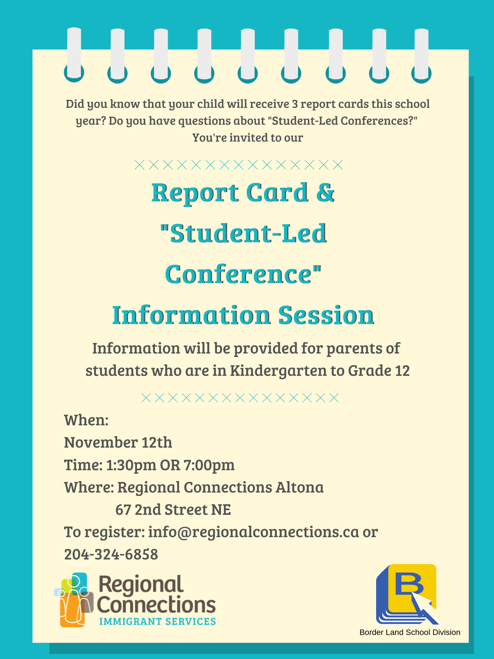 """report card 7 november 2019  Report Card & """"Student – Led Conference"""" Information Session ..."""
